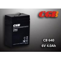 Quality CB640 No Leaking Sealed Lead Acid Battery 6v 4ah , High Efficiency Ups Battery wholesale