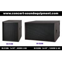 """Quality Disco Sound Equipment / 2x18"""" Direct Reflex 4ohm 1200W Subwoofer For Concert , Nightclub And Living Event wholesale"""