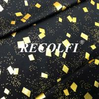 China Seamless Free Cut Activewear Knit Fabric Laser Foil Embossing Printed Colors on sale