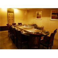 Quality Arch and Fan-shape Electric Teppanyaki Grill / 304 stainless steel Teppanyaki Table wholesale