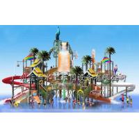 Outdoor Water Playground Equipments with water house and water slide for water park