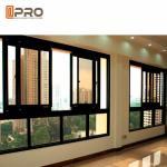 Quality Black Color Aluminium Sliding Windows With Insect Protection Window Screen customized aluminum sliding window price wholesale