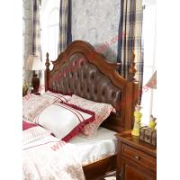 Cheap Leather Upholstery Headboard with Wooden Carving Frame in Bedroom Furniture sets for sale