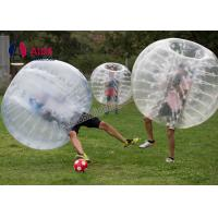 Quality CE 1.2m Pvc Inflatable Sports Equipment Football Suit Human Hamster Ball wholesale
