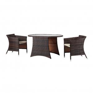 Quality Aluminum 3PC Bistro Chat Set Outdoor Garden Wicker Furniture wholesale