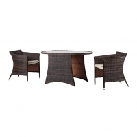 Buy cheap Aluminum 3PC Bistro Chat Set Outdoor Garden Wicker Furniture from wholesalers
