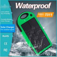 China 5000mAh Solar Panel Power Bank for Samsung Galaxy S4 S5 outdoor using IP65 on sale