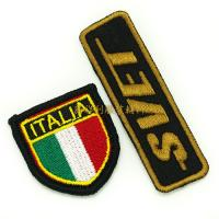 Quality Embroidered Iron On Patches For Clothes , Single Custom Embroidered Patches wholesale