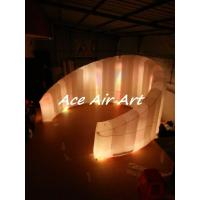 Quality hot sale charming curve inflatable photo booth wall led inflatable wall for meeting party event wholesale