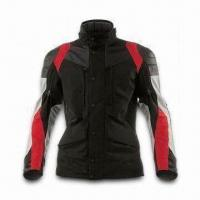 Quality Motorcycle Jacket with Polyester Shell Fabric, PU Coating and Detachable Quilted Lining wholesale
