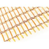 Quality 2500mm Width Copper Laminated Wire Mesh For Architectural Art Glass Partition wholesale