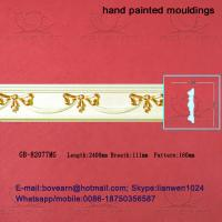Quality Hand Painted Green plant / Crown mouldings / PU Mouldings wholesale