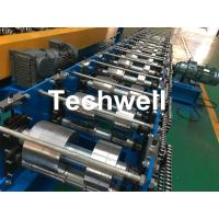 Quality K Gutter, Round Gutter Cold Roll Forming Machine With Hydraulic Cutting PLC Control wholesale