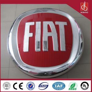 China LED chrome coating film car logo sign, backlit car logo emblem on sale