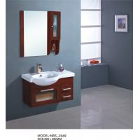 Quality Various shape wooden bathroom furniture cabinets , hardwood bathroom vanity simple Feature wholesale