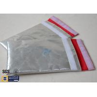 Quality Fireproof Bag Document Cash Envelope 1022℉ Silver Non Itchy Fiberglass Cloth wholesale