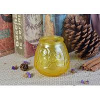 Custom Soda Lime Glass Candle Container For Home Decor , Yellow