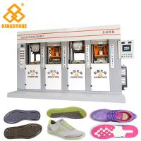 China Four Stations PVC Mould Making Machine, Vertical Injection Moulding Machine Two Injector on sale