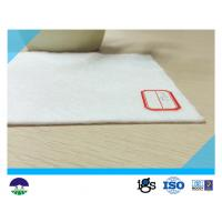 Quality 350G  PET White Filament Nonwoven Geotextile Fabric  with Water Permeability wholesale