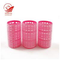 Quality Professional Red Hook And Loop Hair Rollers / Sponge Hair Curler For Long Hair wholesale