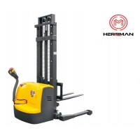 China 1000kg 2200lbs Fully Powered Straddle Electric Pallet Stacker Lift Truck on sale