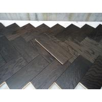 Quality White Oak Parquet Herringbone (stained wenge color) wholesale