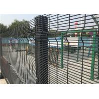 China Powder Coated Welded Wire Mesh Fence Panels For Prison With Square Hole on sale
