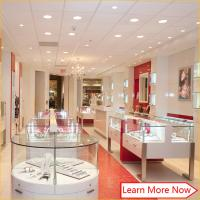 Quality High Glossy Wood Modern Jewellery Showroom Display Cases MDF Veneer With Painting Finished wholesale