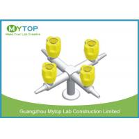 Quality Four Way Brass Laboratory Gas Taps / Chemical Gas Cock Valve Series Fittings wholesale