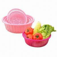 Quality Plastic Fruit Baskets, Made of PP, FDA Certified, Customized Designs and Colors are Accepted wholesale