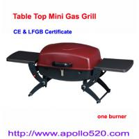 China Single Burner Steel Table Top Barbecue Gas Grill on sale