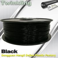 Quality Twinkling 3D Printer Filament 1.75mm Black Filament 1.3Kg / Roll Flexible 3d Filament wholesale