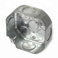 Quality Steel Galvanised Conduit Box , Metal Conduit Junction Box 0.8-1.5mm Thickness wholesale