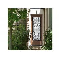 Quality Distinctive Customization Wrought Iron Glass Door Inserts Excellent Climate Resistance wholesale