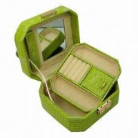 Quality Ring Box, 5 Apartments with Mirror, OEM Orders are Welcome wholesale
