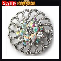 Quality Crystal Silver Brooch Silk Scarf Buckle Hollow Flower Rhinestone Broches Jewelry Wholesale wholesale