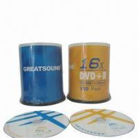 Quality Blank DVD + RS, 16X Speed, 4.7GB/120-minute, Silk-screen Printing wholesale