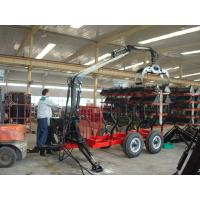 Quality Woodworking Forestry Machinery Farm Grapple Log Loading Trailer Timber Trailer with Crane wholesale