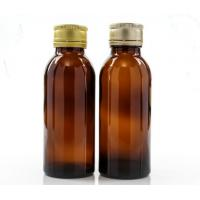 Quality 100ml Amber Glass Oral Liquid Bottle With Colors Metal Cap,Syrups Bottle wholesale