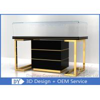 Quality Custom Commercial Mirror Gold Jewelry Display Case With Cabinet wholesale