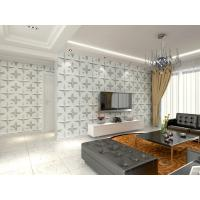 Cheap Wall Hanging 3D Living Room Wallpaper , Fabric Wall 3d Wall Panel Sound for sale