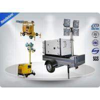 Quality Air - Cooled Telescopic Light Tower / Manual Trailer Mounted Light Towers wholesale