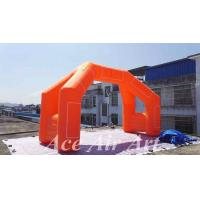 Quality customized beautiful orange balloon inflatable archway with velco for advertising wholesale