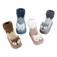 China Factory Price High Quality Lovely Cotton Socks Knitted Kids Winter Stockings on sale