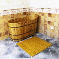 China Customized WPC Wood Shower Floor WPC Bathroom Decking 60cm x 40cm on sale