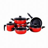 China Pressed Aluminum Cookware Set, Non-stick Coating Inside, Heat-resistant Painting Outer on sale