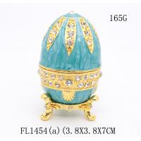 Russian faberge Easter egg trinket box decorative  faberge Easter egg jewelry box metal gift