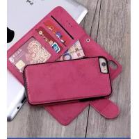 Quality Soft Cover Iphone 6 2 In 1 Wallet Case Crazy Horse Customized With Magnetic Clip wholesale