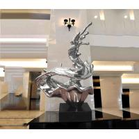 Quality Customized Abstract Metal Sculpture , Modern Public Art Sculpture For Decoration wholesale