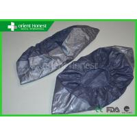 Quality Dark Blue Foot Protection Waterproof Disposable  Shoe Cover With PP + CPE Material wholesale